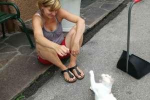 Spielen mit Schoki beruhigt. - © www.urlaub-greifenburg.at