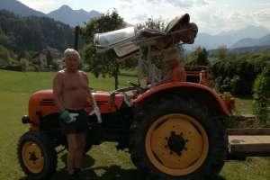 Hans Friedel hat die Arbeitswut gepackt. - © www.urlaub-greifenburg.at