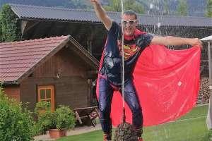 Und da ist auch schon Superman! - © www.urlaub-greifenburg.at