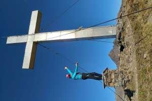 Ziel erreicht in 2.214 m Höhe! - © www.urlaub-greifenburg.at